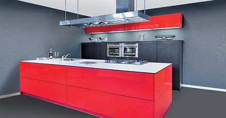Keukenxpert design archives keukenxpert - Rode keuken met centraal eiland ...