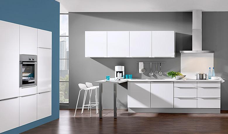 Keukenxpert soft witte keuken met greeplijst keukenxpert - Witte keukens ...